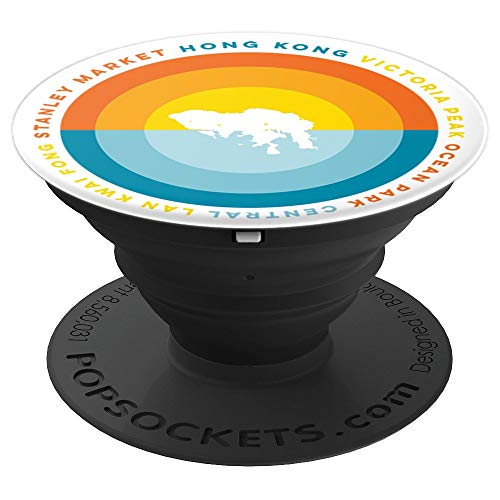 Hong Kong China Sunset PopSockets Grip - PopSockets Grip and Stand for Phones and Tablets
