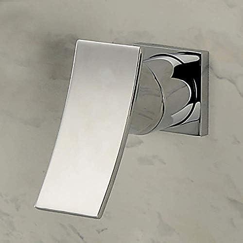 Zxyan 蛇口 立体水栓 バスルーム製品滝クロームウォールは、二つの穴をマウント/シングルハンドル二穴バスタブ蛇口現代のゴールド浴室のシンクの蛇口のシンプルで実用的な トイレ/キッチン用