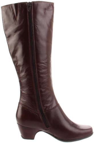 Clarks Kvinna Cardy Boot Brunt Läder