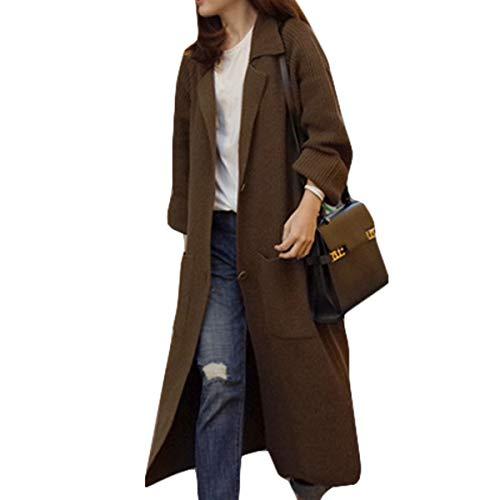 Jocolate(ジョコレート) カーディガン レディース ロング 膝下 ニット カーデ ロングコート セーター ポケット付き 秋 厚手 暖かい