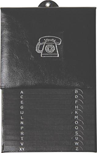 BRUNNEN 106431090 Telefonregister / Schuppenregister (16 x 25 cm, 12-teilig) schwarz