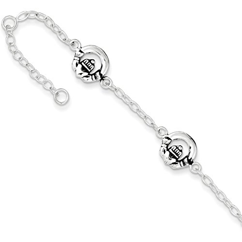 Sterling Silver Claddagh Cable