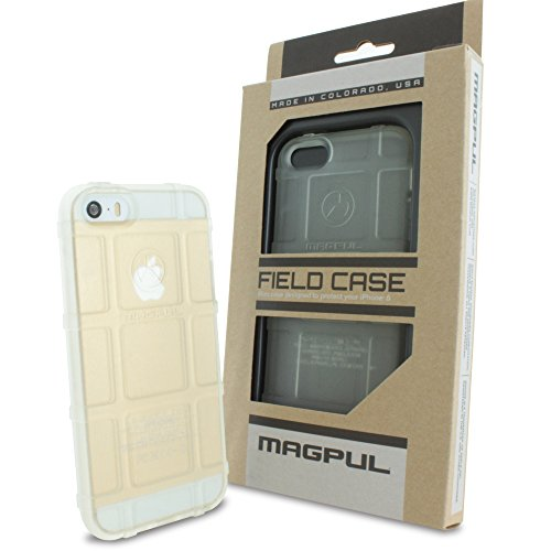 iPhone SE Case, iPhone 5S/5 Case, Magpul [Field] Polymer Drop Protection Case Cover MAG452 Retail Packaging for Apple iPhone SE/5S/5 + TJS Tempered Glass Screen Protector (Clear)