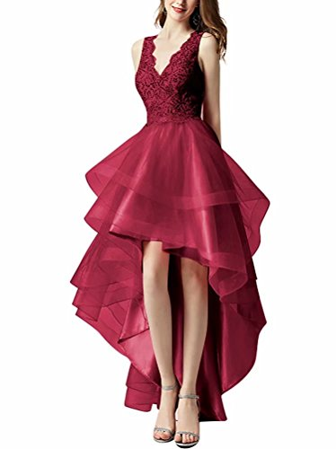 Dresses Burgundy Gowns Dresses Juniors Party Homecoming Prom Sequined Formal Low Tulle for Hi A Line WqgHpg8