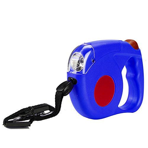 Flexzion Retractable Dog Leash Blue