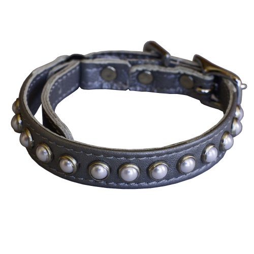 South Sea Pearl Leather Safety Cat Collar - Fairy Tale (Silver) ()