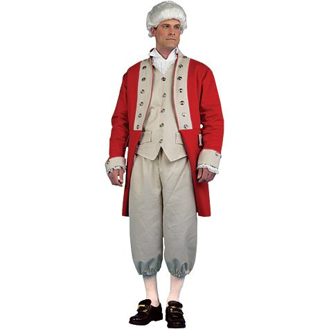 Redcoat Costumes (British Redcoat Costume Adult - Extra Large)