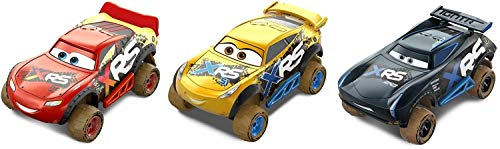 Disney Pixar Cars XRS Mud Racing 3-Pack (1 18 Scale Diecast Drag Racing Cars)