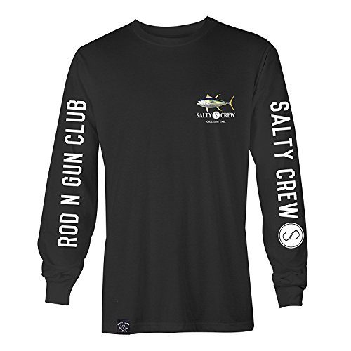 Salty Crew Mens Ahi L/S T-Shirt, Black