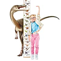 Lifeliko Personalised Growth Chart for Dinosaur Lovers, Removable Wall Ruler for Boys and Girls, Kid