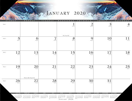 House of Doolittle 2020 Monthly Desk Pad Calendar, Illustrated, 22 x 17 Inches, January - December (HOD140-20)