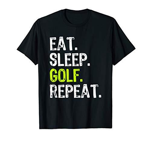 Eat Sleep Golf Repeat Funny Player Gift T-Shirt