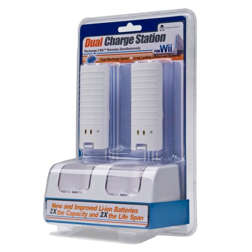 Lithium-Ion Dual Charging Dock for Nintendo Wii Remote