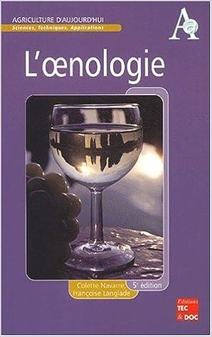 Livres en format pdf à télécharger L'Oenologie PDF RTF