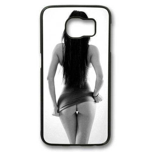 Sexy lady Theme Samsung Galaxy S6 edge Case PC Material Black (Sexy Women Themes)