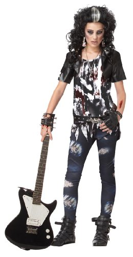 California Costumes Toys Rocked Out Zombie, Large (Rocker Girl Halloween Costume)