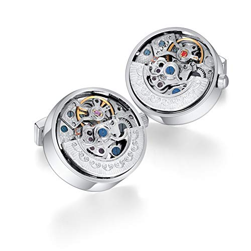 MERIT OCEAN Mechanical Movement Cufflinks Steampunk Watch Cuff Links Business Wedding Gifts from MERIT OCEAN