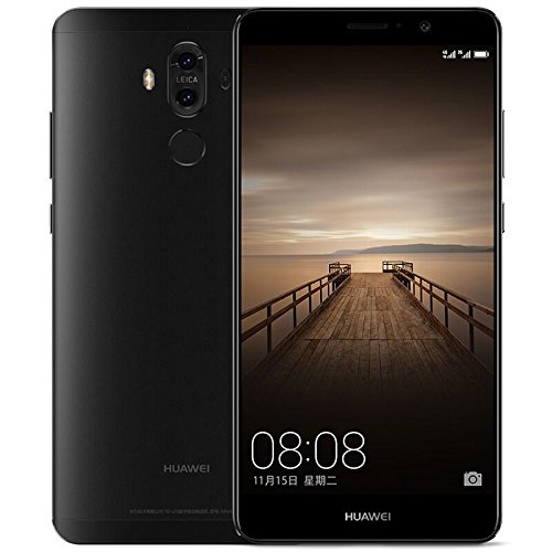 "NEW COLOR! Huawei Mate 9 MHA-L29 DUAL-SIM LTE 4G Unlocked Android Smartphone 20MP+12MP, Leica Camera 5.9"" FHD 4GB RAM 64GB International Version (BLACK)"