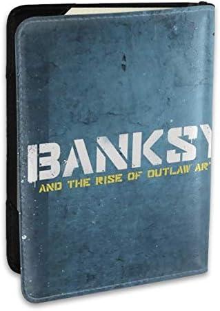 Banksy バンクシー パスポートケース パスポートカバー メンズ レディース パスポートバッグ ポーチ 携帯便利 シンプル 収納カバー PUレザー収納抜群 携帯便利 海外旅行 出張 小型 軽便