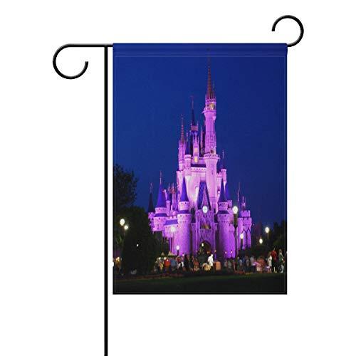 Disney Castle Night Garden Flag Double Sided Yard Outdoor De