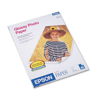 Epson Glossy Photo Paper - Letter - 8.5amp;quot; x 11amp;quot; - 196g/m - Glossy - 20 x Sheet - White (Catalog Category: Paper- Photo Quality)
