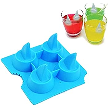 Freeze Beer Mould Party Shark Fin Pattern Random Color Ice Cube Mold Tray