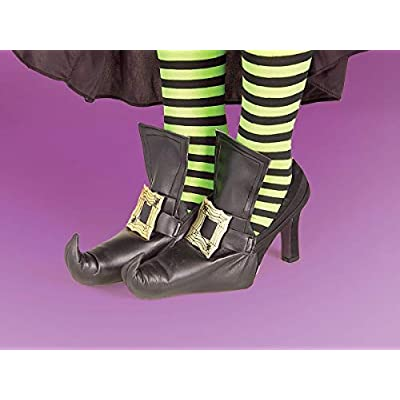 Forum Novelties Witch Shoes Covers, Gold: Toys & Games