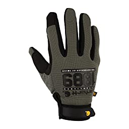 Carhartt Men\'s The Fixer Spandex Work Glove with Water Repellant Palm, Grey/Graphic, XX-Large