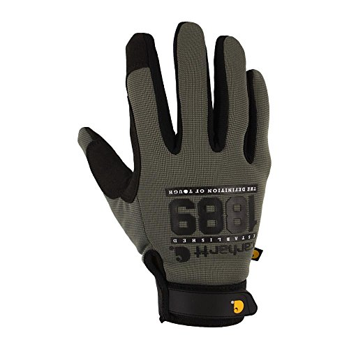 Carhartt Men's The Fixer Spandex Work Glove with Water Repellant Palm, Grey/Graphic, ()