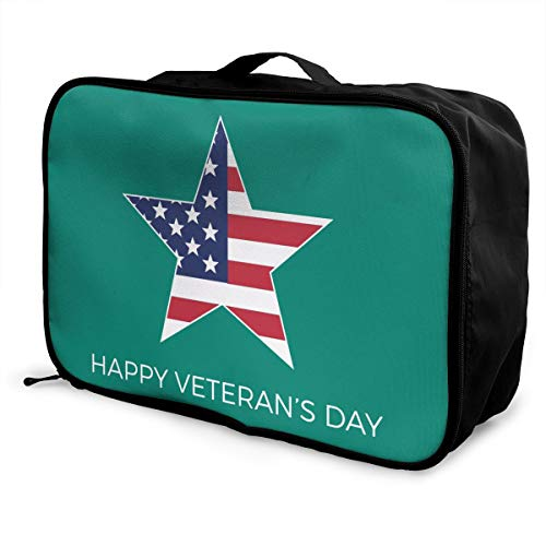 Happy Veterans Day! Lightweight Large Capacity Portable Luggage Bag Fashion Travel Duffel Bag