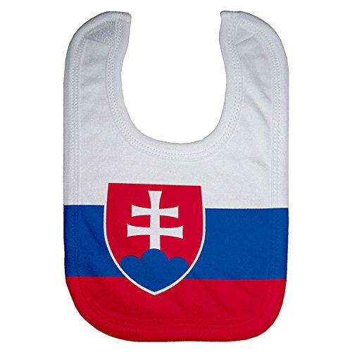 Microfiber Baby Bib - Flag of Slovakia - Svk Slovakia