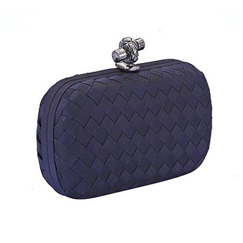 Bolso De La Hebilla Mini Fashion Evening Bag Dress Banquet Pack,Blue Blue