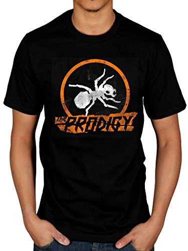 AWDIP Men's Official The Prodigy Ant T-Shirt Music Band Electronic Group (Alternative Band T-shirts)