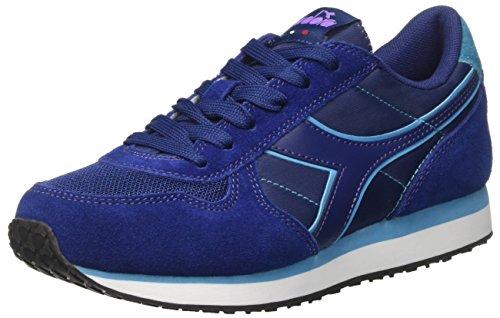Blu W A Basso run Diadora Sneaker K Donna Stampa Collo 60013 YzIwqE