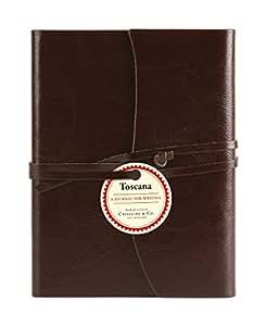 Cavallini Toscana Journals Brown 5 x 7, Hardbound Leather