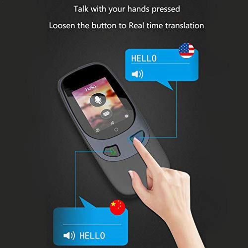 Window-pick Smart Voice Translator Device 4G WiFi Two Way Real Time Instant Language Translator Handheld Support 16 Languages for Learning Travel Shopping Business Black by Window-pick (Image #3)