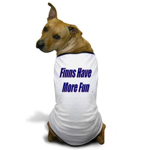 CafePress Finns Have More Fun Dog T-Shirt - XL White [Misc.]