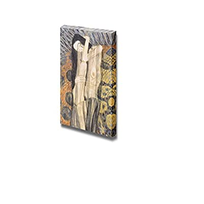 Beethoven Frieze,1902 by Gustav Klimt - Canvas Print Wall Art Famous Oil Painting Reproduction -16