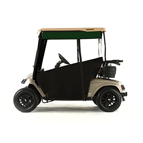 EZGO TXT Golf Cart PRO-TOURING Sunbrella Track Enclosure - Black-GRN