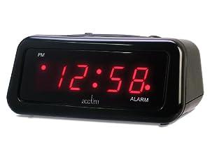 Acctim Actel Red Digit Led Alarm Clock Amazon Co Uk