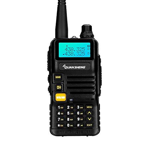 Quansheng ham radios (UV-R50) Dual Band Two Way radios Long Range walkie talkies (Black)
