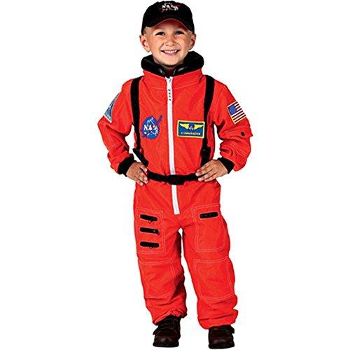 Aeromax Orange Astronaut Costume (Jr. Astronaut Suit Costume - X-Large)