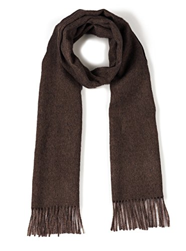 100% Pure Baby Alpaca Scarf - Bright Happy Solid & Natural Dye Free Colors (Dark Chocolate) by Incredible Natural Creations from Alpaca - INCA Brands (Image #2)