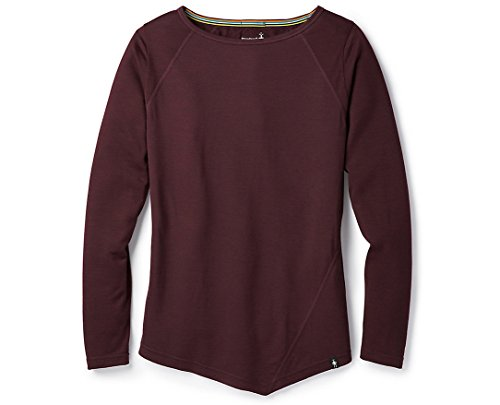 Womens Smartwool Apparel - SmartWool Women's Everyday Exploration Long Sleeve Tee Fig Heather S