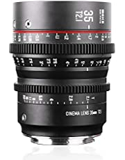 Meike 35mm T2.1 S35 Manual Focus Wide Angle Prime Cinema Lens for Canon EF Mount and Cine Camcorder EOS C100 Mark II, EOS C200, EOS 300 Mark II, EOS C300 Mark III, EOS C700, Zcam E2-S6 6K