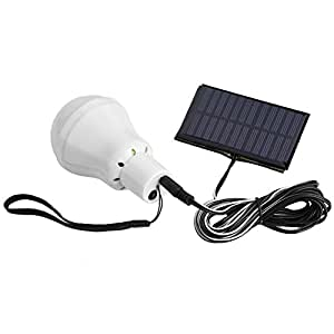 VBESTLIFE Portable Solar Energy 12 LED Rechargeable Bulb Light Outdoor Camping Yard Lamp Pure White