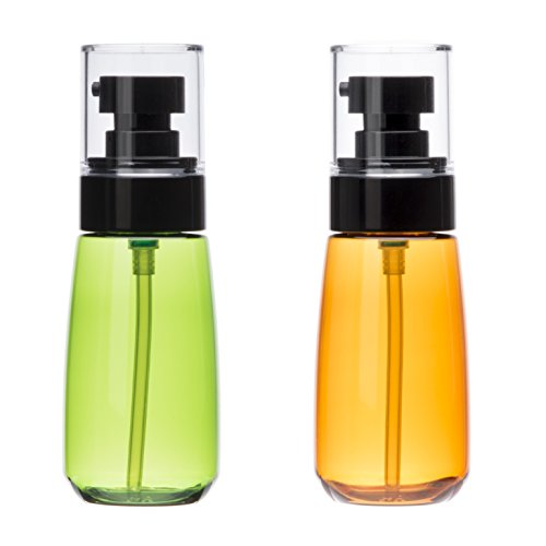 Upg Kit - Uviviu 2oz(60ml) UPG Soap and Lotion Dispenser,Empty Refillable Pump Replacement Bottle for Travel (Clear Brown & Green)