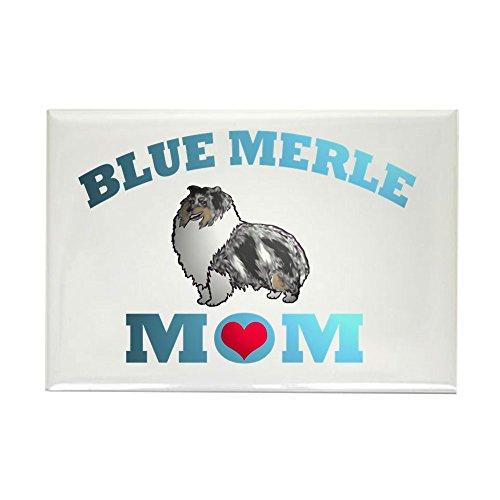 (CafePress Blue Merle Sheltie Rectangle Magnet Rectangle Magnet, 2