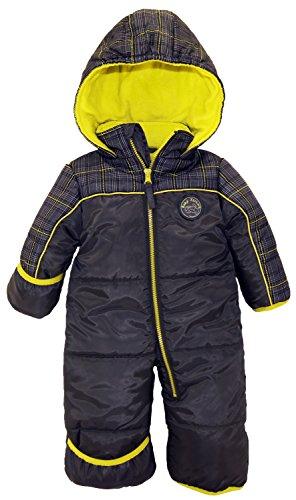 iXtreme Baby Boys Plaid Expedition Puffer Winter Snowsuit Pram, Grey, 24 Months