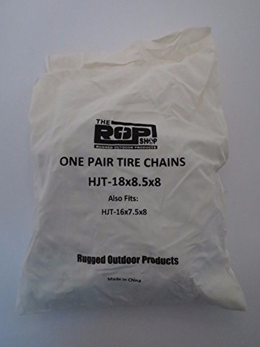 The ROP Shop New Pair 2 Link TIRE Chains 18x8.5x8 for John Deere Lawn Mower Tractor Rider